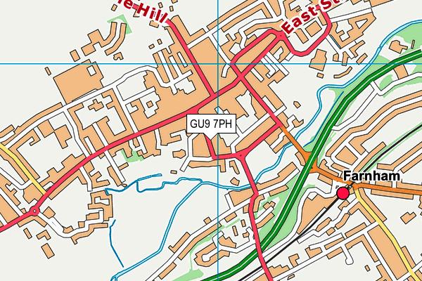 GU9 7PH map - OS VectorMap District (Ordnance Survey)