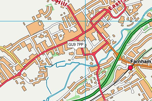 GU9 7PP map - OS VectorMap District (Ordnance Survey)