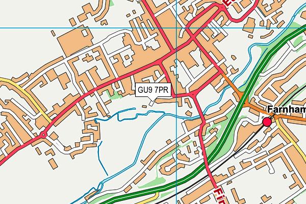 GU9 7PR map - OS VectorMap District (Ordnance Survey)