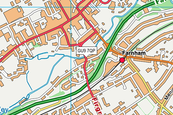 GU9 7QP map - OS VectorMap District (Ordnance Survey)