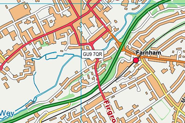 GU9 7QR map - OS VectorMap District (Ordnance Survey)