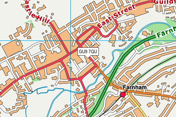 Ellegance (Closed) map (GU9 7QU) - OS VectorMap District (Ordnance Survey)
