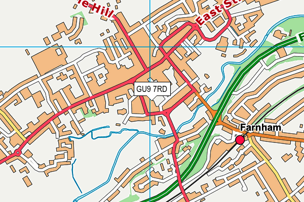 GU9 7RD map - OS VectorMap District (Ordnance Survey)