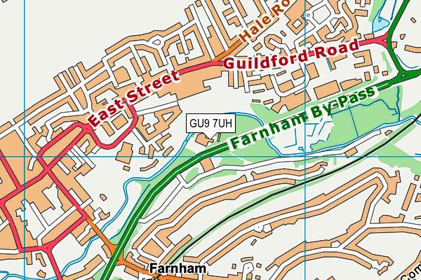 Brightwell Tennis Club map (GU9 7UH) - OS VectorMap District (Ordnance Survey)