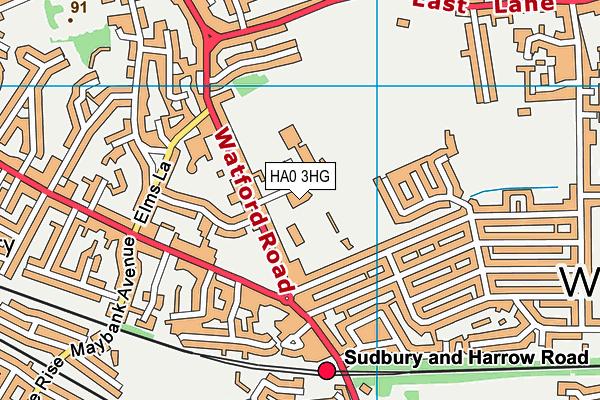 Vale Farm Leisure Centre map (HA0 3HG) - OS VectorMap District (Ordnance Survey)