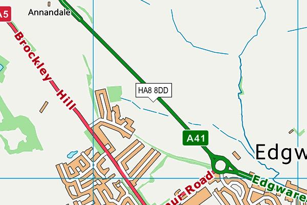 Edgware Berry Golf Course (Closed) map (HA8 8DD) - OS VectorMap District (Ordnance Survey)