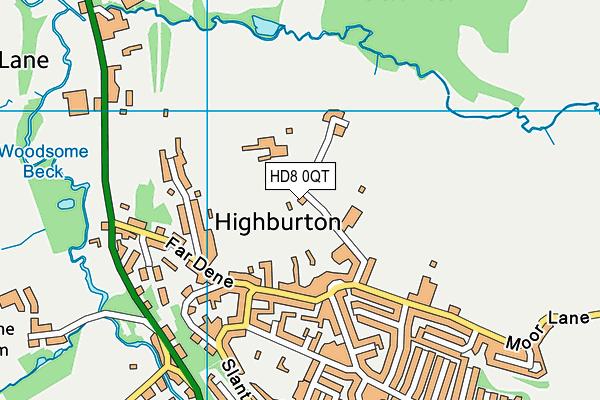 Burton Village Hall map (HD8 0QT) - OS VectorMap District (Ordnance Survey)