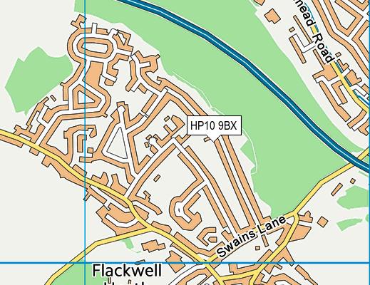 HP10 9BX map - OS VectorMap District (Ordnance Survey)