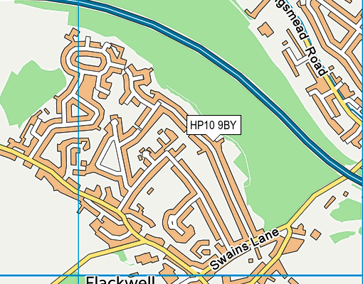 HP10 9BY map - OS VectorMap District (Ordnance Survey)