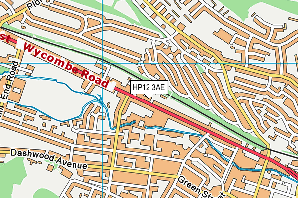 Unity College map (HP12 3AE) - OS VectorMap District (Ordnance Survey)