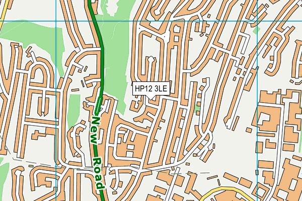 Castlefield School map (HP12 3LE) - OS VectorMap District (Ordnance Survey)