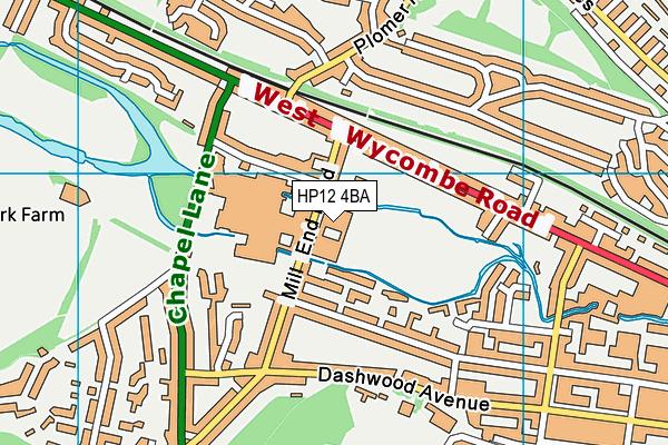Millbrook Combined School map (HP12 4BA) - OS VectorMap District (Ordnance Survey)