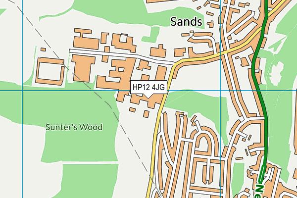 Progress Schools - Buckinghamshire map (HP12 4JG) - OS VectorMap District (Ordnance Survey)