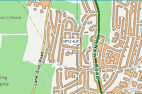 Booker Hill School map (HP12 4LR) - OS VectorMap District (Ordnance Survey)