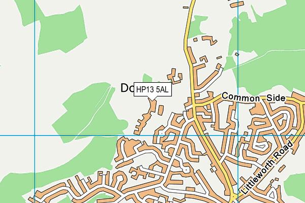 The Downley School map (HP13 5AL) - OS VectorMap District (Ordnance Survey)