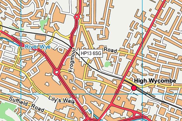 Hamilton Academy map (HP13 6SG) - OS VectorMap District (Ordnance Survey)