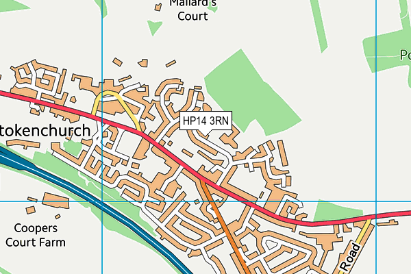 Stokenchurch Primary School map (HP14 3RN) - OS VectorMap District (Ordnance Survey)