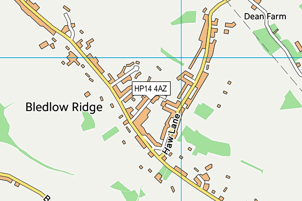Bledlow Ridge School map (HP14 4AZ) - OS VectorMap District (Ordnance Survey)