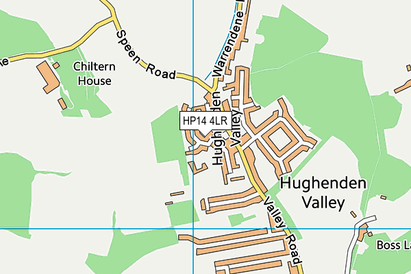 Hughenden Primary School map (HP14 4LR) - OS VectorMap District (Ordnance Survey)
