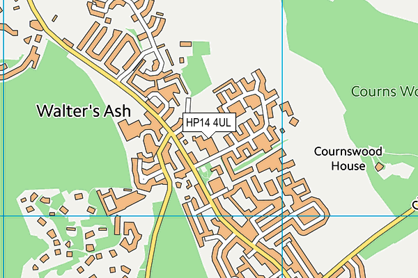 Naphill and Walters Ash School map (HP14 4UL) - OS VectorMap District (Ordnance Survey)