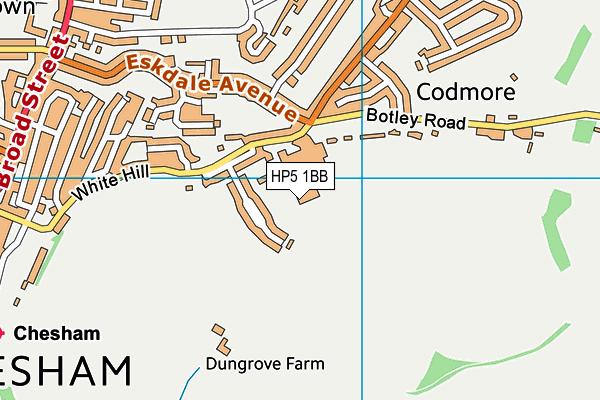 Chesham Leisure Centre map (HP5 1BB) - OS VectorMap District (Ordnance Survey)
