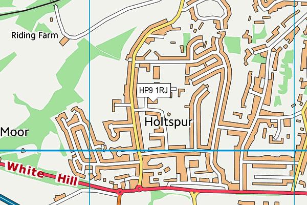The Beacon Sports Centre, Theatre & Gym map (HP9 1RJ) - OS VectorMap District (Ordnance Survey)