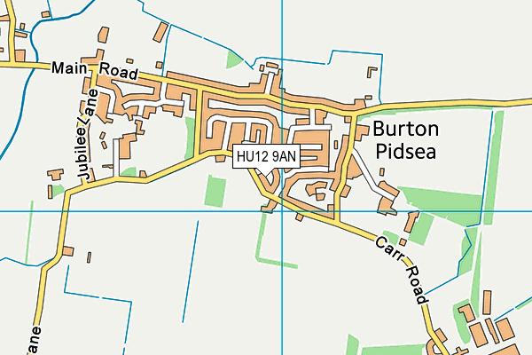 Burton Pidsea Memorial Hall map (HU12 9AN) - OS VectorMap District (Ordnance Survey)