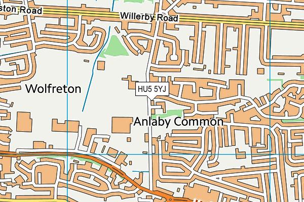 The Hub School map (HU5 5YJ) - OS VectorMap District (Ordnance Survey)