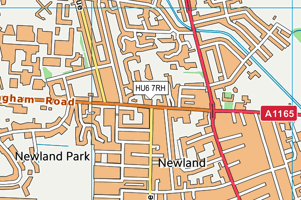 St Nicholas Primary School map (HU6 7RH) - OS VectorMap District (Ordnance Survey)