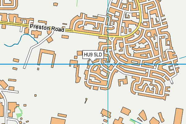 The Waudby Centre map (HU9 5LD) - OS VectorMap District (Ordnance Survey)