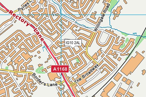 IG10 2AL map - OS VectorMap District (Ordnance Survey)