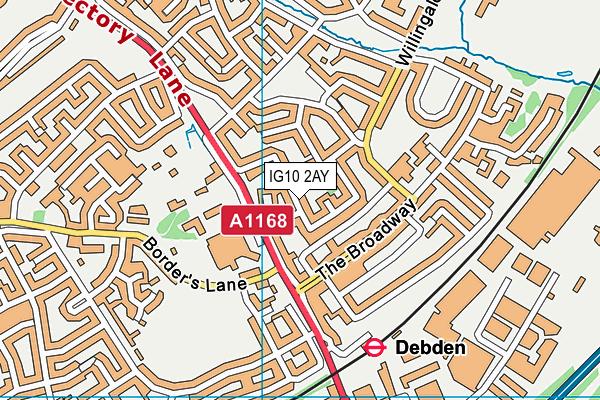 IG10 2AY map - OS VectorMap District (Ordnance Survey)