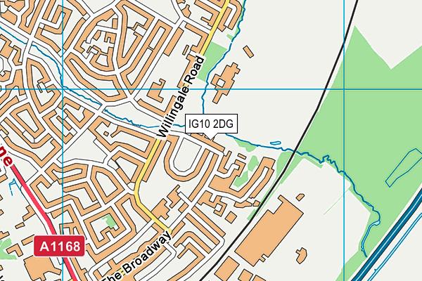 IG10 2DG map - OS VectorMap District (Ordnance Survey)