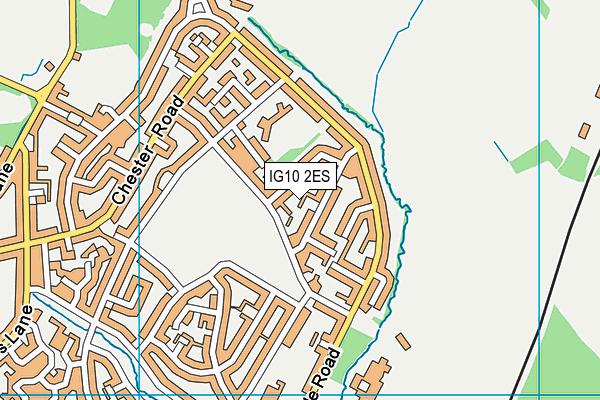 IG10 2ES map - OS VectorMap District (Ordnance Survey)