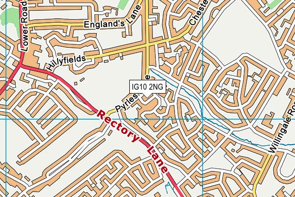 IG10 2NG map - OS VectorMap District (Ordnance Survey)