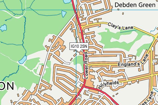 IG10 2SN map - OS VectorMap District (Ordnance Survey)