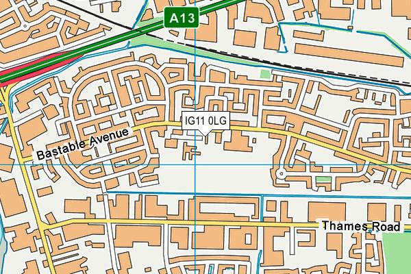 Thames View Junior School map (IG11 0LG) - OS VectorMap District (Ordnance Survey)