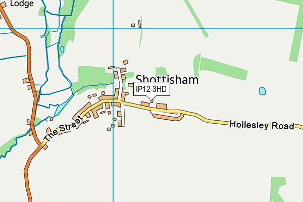 IP12 3HD map - OS VectorMap District (Ordnance Survey)