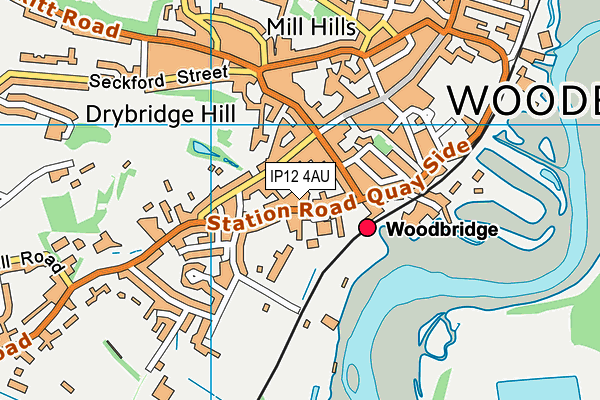 Map of CHOOSE WOODBRIDGE C.I.C. at district scale