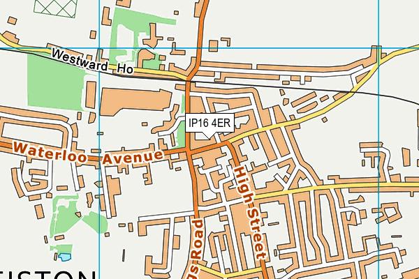IP16 4ER map - OS VectorMap District (Ordnance Survey)