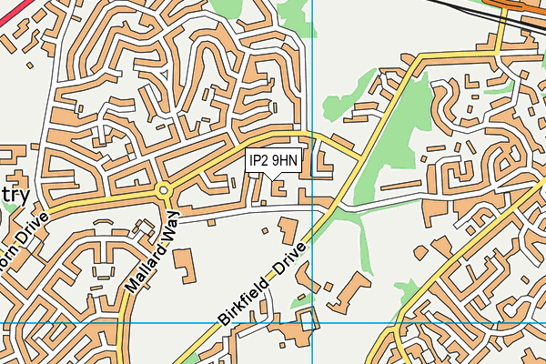 St Mark's Catholic Primary School, Ipswich map (IP2 9HN) - OS VectorMap District (Ordnance Survey)