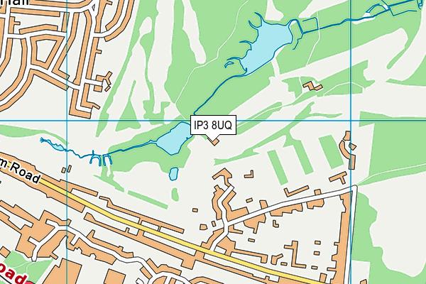 Ipswich Golf Club Ltd  map (IP3 8UQ) - OS VectorMap District (Ordnance Survey)