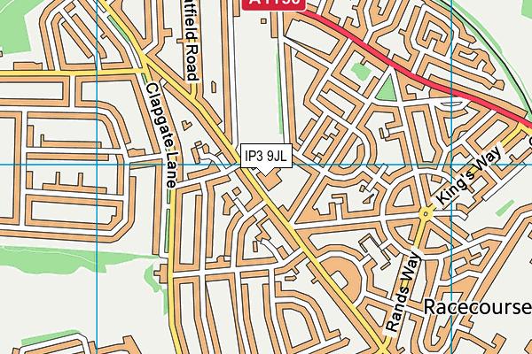 Murrayfield Primary - A Paradigm Academy map (IP3 9JL) - OS VectorMap District (Ordnance Survey)
