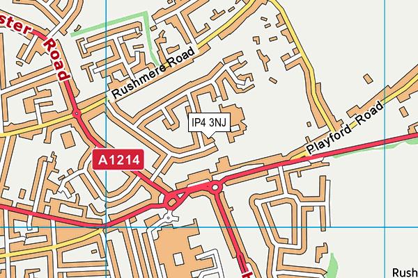 St Alban's Catholic High School map (IP4 3NJ) - OS VectorMap District (Ordnance Survey)