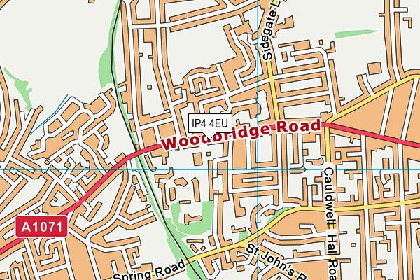 St Mary's Catholic Primary School, Ipswich map (IP4 4EU) - OS VectorMap District (Ordnance Survey)