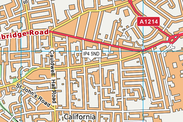 Parkside Academy map (IP4 5ND) - OS VectorMap District (Ordnance Survey)