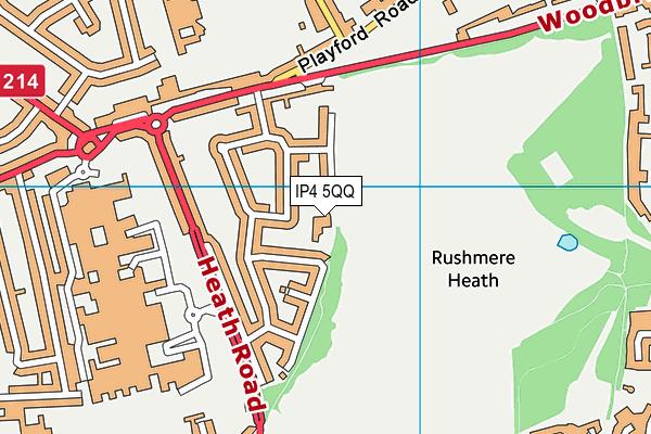 Rushmere Golf Club map (IP4 5QQ) - OS VectorMap District (Ordnance Survey)