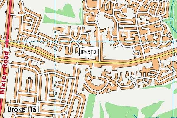 IP4 5TB map - OS VectorMap District (Ordnance Survey)