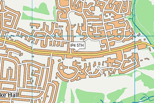 IP4 5TH map - OS VectorMap District (Ordnance Survey)