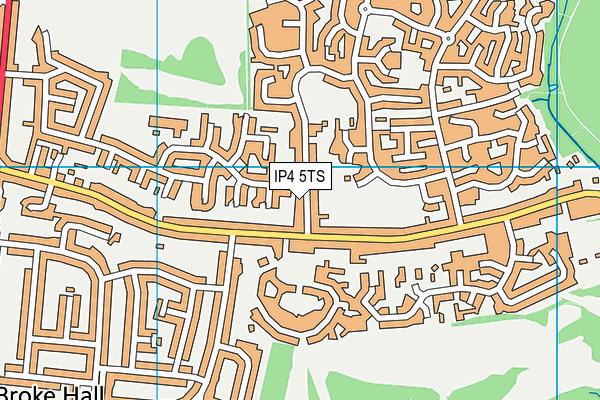 IP4 5TS map - OS VectorMap District (Ordnance Survey)